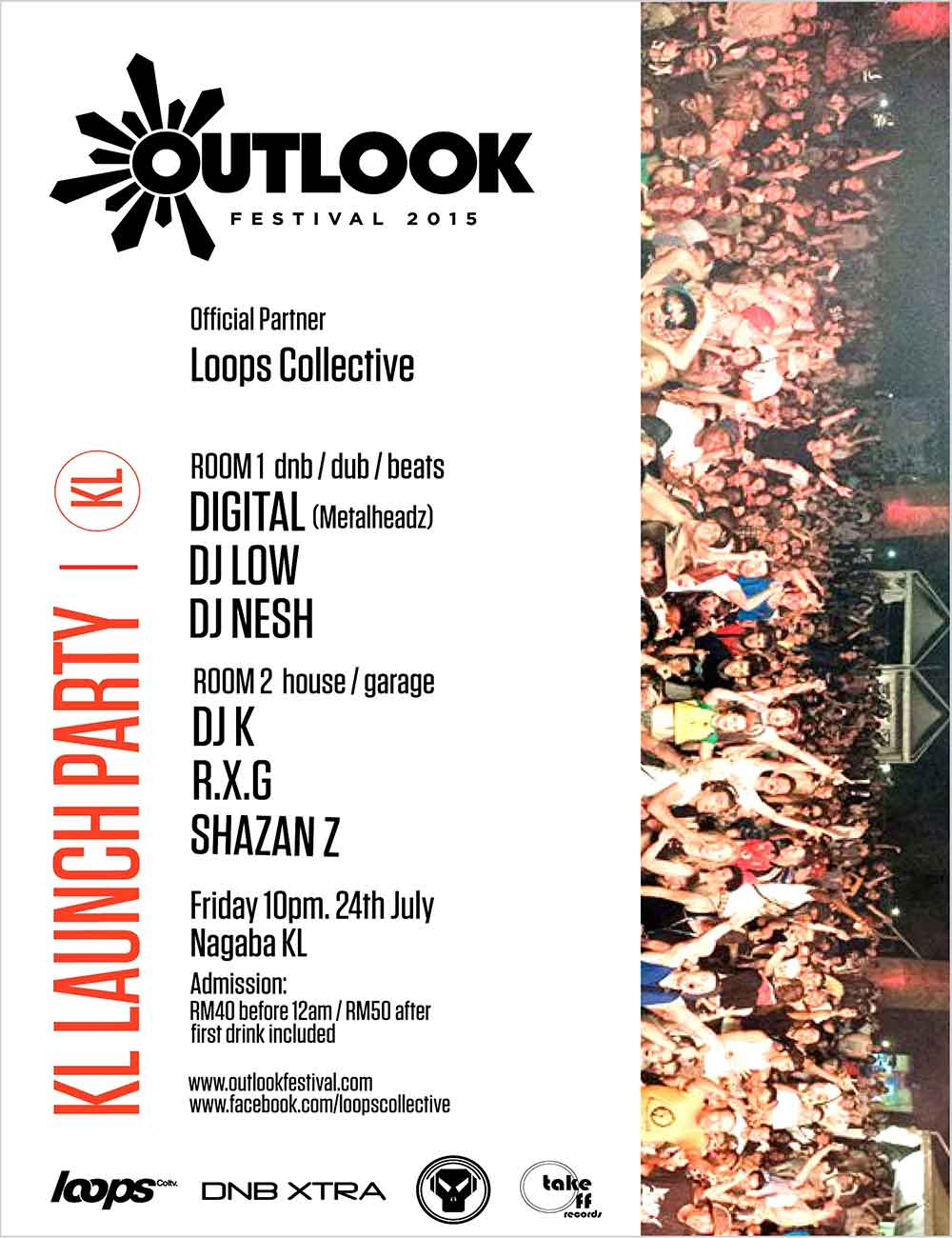 OUTLOOK FESTIVAL LAUNCH PARTY - FEATURING DIGITAL - NAGABA - KUALA LUMPUR